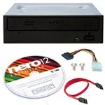Pioneer 16x BDR-209DBK Internal Blu-ray Burner Bundle with Nero Burning Software and Cable