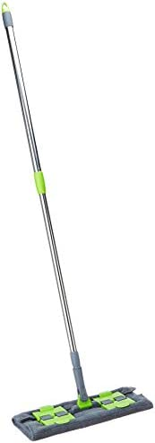 Amazon Brand - Presto! Microfibre Flat Mop for Dry and Wet Floor Cleaning