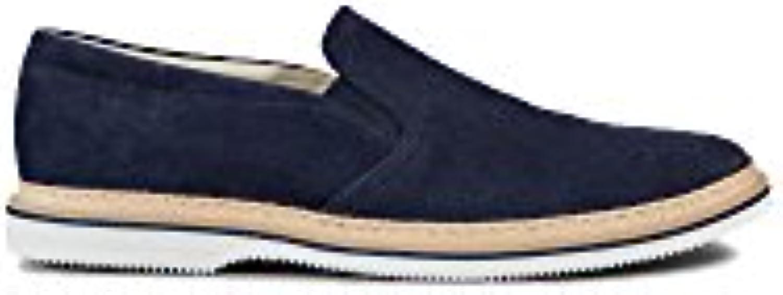 Hogan Hombre HXM3160X510HG0U802 Azul Gamuza Zapatillas Slip-On  -