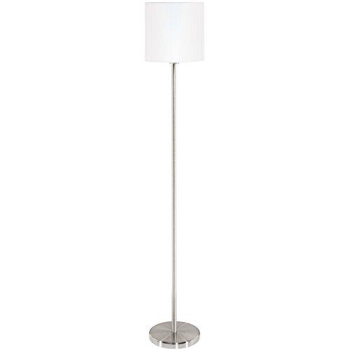 Eglo 'PASTERI' E27Nickel, Weiß (Lampe Tisch Helle Nickel)