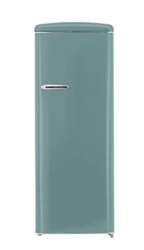 Exquisit RKS 325-16 RVA++TB Retro-Kühlschrank/EEK: A++/229 Liter/Retro-Handgriff/LED-Innenbeleuchtung/Taubenblau