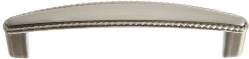 Sn 3.75 (Taymor 20-1614SN Nautilus Rope Edge 3-3/4-Inch Pull, Satin Nickel by Taymor)