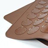 LanLan 48 Cavity Silicone Macaroon Pastry Cake Oven Baking Mould Sheet