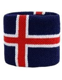 Digni® Poignet éponge avec drapeau Islande, pack de 2
