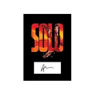 Alden Ehrenreich # 1(FBA) Star Wars Solo Signiert Foto A5Print