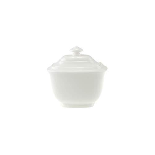 Villeroy & Boch Royal Zuckerdose, Premium Bone Porzellan, Weiß