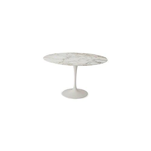Tavoli.design CM 90 Table Tulip Eero Saarinen Ronde Marbre Calacatta Or