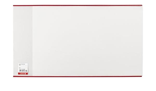 transparent Brunnen 1040255 Buch-, Heftumschlag // Buchschoner, Buchh/öhe 25,5 cm, 54 x 25,5 cm, mit rotem Kantenschutz