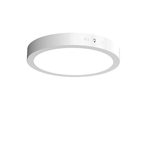 Veelicht LED Deckenleuchte Kaltweiß 6000K, (24W, 1600LM, Nicht Dimmbar, AC 230V,Metall Rahmen), Panel Leuchte, Modern LED Deckenlampe Schlafzimmer Küche Wohnzimmer Lampe