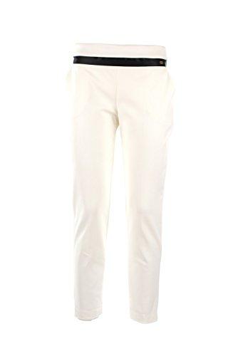 Pantalone Donna Elisabetta Franchi 42 Bianco Pa8033121 Autunno Inverno 2015/16