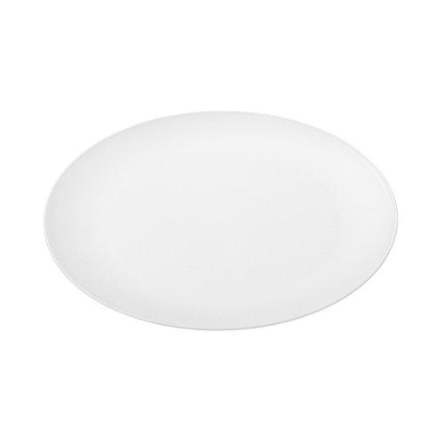 koziol RONDO weiß Flacher Teller, Thermoplastischer Kunststoff, cotton white, 26,2 x 26,2 x 1,7 cm