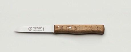 """Oma's Küchenmesser, extra scharf, gerade, 3"""" = 8 cm, nicht rostfrei / Gußstahl, Holzgriff, Marsvogel Solingen"""