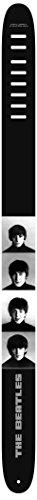 Cinghia per chitarra, motivo stampato ad alta risoluzione di Perri's Beatles, bianco e nero, 2,5