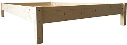 LIEGEWERK Futonbett Bett Holz Holzbett Massivholzbett 90 100 120 140 160 180 200 x 200cm, hergestellt in BRD (100cm x 200cm)