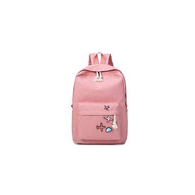 Frauen Rucksack Canvas Cross-Seasons Casual Reisen Schaufel Pattern/Drucken Reißverschluss Arm Hellblau Grün Rot Rosa Grau Beige Blushing Pink