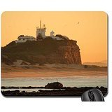 sunrise-over-nobbys-lighthouse-mouse-pad-mousepad-beaches-mouse-pad