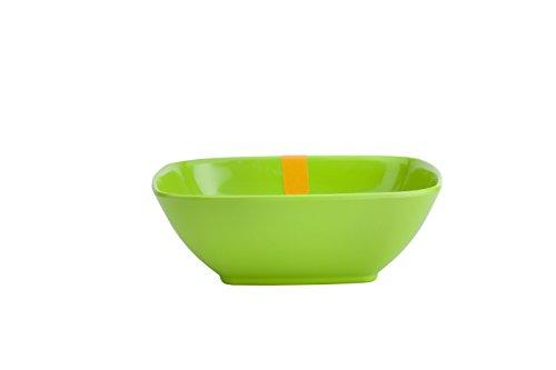 ARO Melamine Square Bowl, 4.5 inches, 6 Piece, Green
