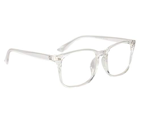 Peter Jones Anti-Reflective Wayfarer Unisex Sunglasses - (NA101|56|White Color Lens)
