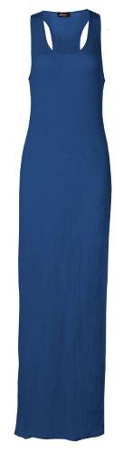 Fast Fashion Damen Ebene Armellose Muskel Racerback Übergröße Maxi Kleid (Maxi-kleid Jersey)