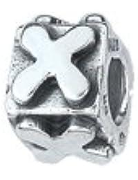 amore & baci .925 Letra de plata X Bead Charm