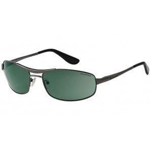 Dirty Dog 52761 52761 Gunmetal / Green Ace Aviator Sunglasses Polarised Lens Ca