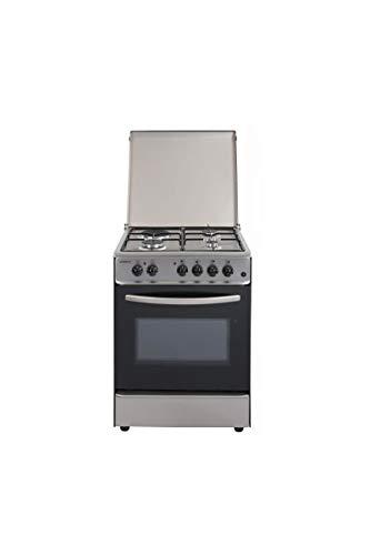 Oceanic oceacm6060ix8 - cuisiniere Table Mixte gaz/électrique-4 foyers-Four Convection naturelle-65 l-a-l 60 x h 85cm - INOX