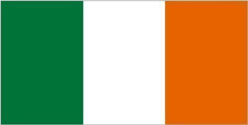 Giant Ireland Tri-colour Irish - 8ft x 5ft FLAG BANNER DECORATION WITH FREE UK POSTAGE by Top Brand -
