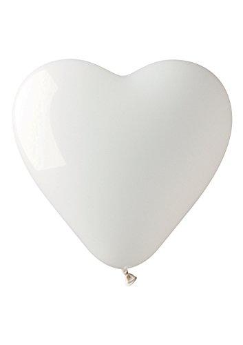 Luftballons Latt. Weißen Herzen pz14large (Adidas Herz)