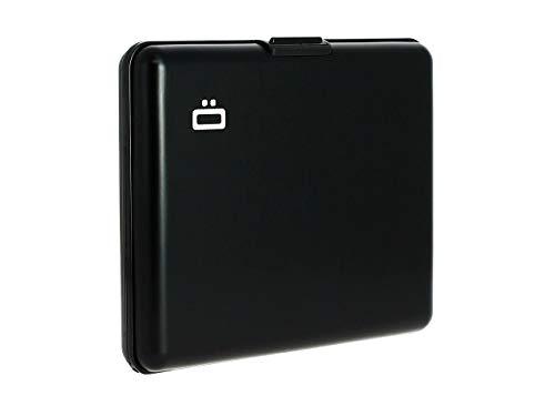 Ögon Smart Wallets - Portefeuille Format Carte d'identité et permis de Conduire - RFID Protection : protège Vos Cartes Contre la fraude - Jusqu'à 10 Cartes (Noir)