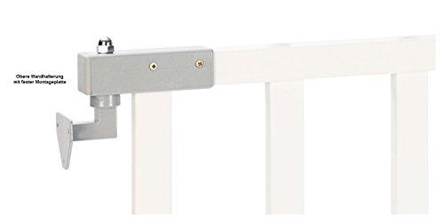Impag® Treppenschutzgitter Absperrgitter Türschutzgitter Buche Massivholz 65 – 115 cm, Extrahoch 90 cm JW - 3