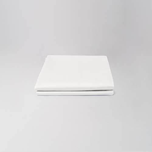 cloudlinen Luxus Kissen Set aus 100% ägyptischer Baumwolle - 2 * 80x40 (Kissen) - Weiss einfarbig/unifarben - kuscheliger, Warmer, weicher Satin für besten Schlaf -