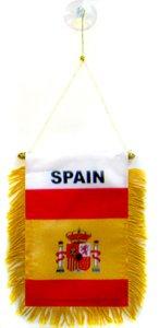 AZ FLAG Fanion Espagne 15x10cm - Mini Drapeau Espagnol 10 x 15 cm spécial Voiture - Bannière