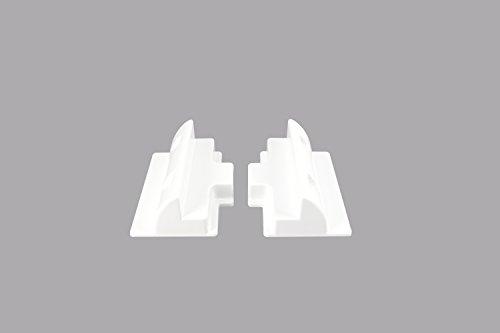 Preisvergleich Produktbild enjoysolar ABS Solarmodul Haltespoiler-Verbinder Halterung 18cm spezial für Wohnmobile Caraven