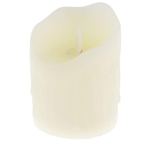 FLAMEER Flammenlose LED Kerzen Echtwachskerzen Teelichter Weihnachtskerzen für Outdoor Indoor - Größe 1
