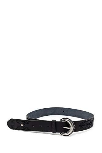 Desigual Cintura donna belt boho embroidery 19warl01 95 nero