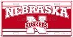 Nebraska Corn Huskers NCAA Tin License Plate by Smart Blonde