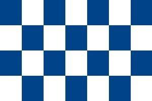 Flagge Fahne Karo blau / weiss 90x150cm
