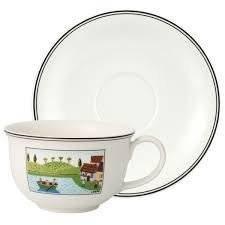 Villeroy & Boch Charm & Breakfast desenza Naif Becher Caffe Latte, conper, XL, 2Stück, Premium Porzellan, Weiß -