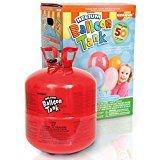 Idea Regalo - Bombola Gas Elio per Il gonfiaggio di 50 Palloncini + 50 Palloncini Standard Assortiti