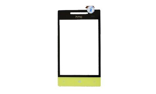 Preisvergleich Produktbild Touchscreen Front Glass Glas Scheibe Touch für HTC Windows Phone 8S Gelb Yellow NEU!
