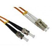 Preisvergleich Produktbild 2 Metre OM2 Orange LC-ST Fibre Optic Cable. Multimode 50 / 125 Duplex. Low Smoke Zero Halogen