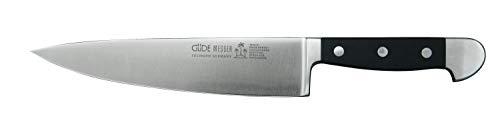Güde Alpha Serie Klingenlänge: 21 cm POM schwarz Kochmesser, Stahl, 21 centimeters