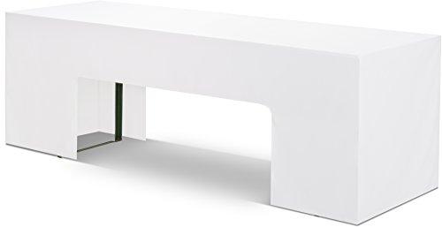 Hussenkönig Biertisch-Husse für 70cm breiten Biertisch Bierzeltgarnitur Weiß EXKLUSIVE