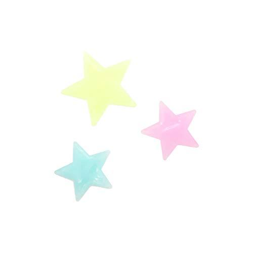 Webla 50PC Kinder Schlafzimmer Fluorescent Glow In The Dark Schneeflocke Wandaufkleber (Multicolor)