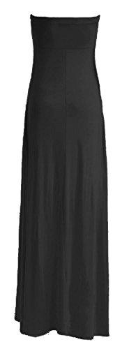 Fast Fashion – De Maxi Robe Plus Plaine Taille Knot Bow Bustier L'avant - Femmes Noir