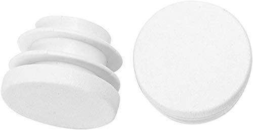 JOJOZZ Kunststoff-Stöpsel Tischfuß Anti-Rutsch-Pad Schutz staubdicht Rundrohr eingesteckt Stecker-Bung 12 Stück