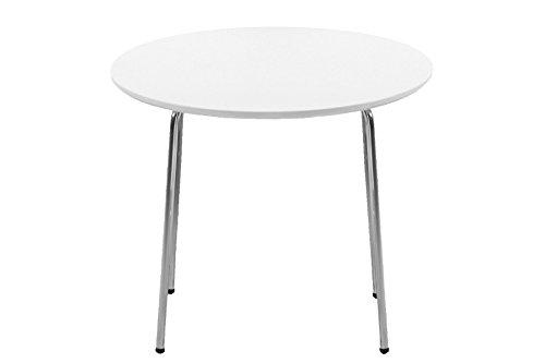 AC Design Furniture 6104 Kindertisch, Holz, weiß, 60 x 60 x 50 cm (Eiche Runde Beistelltisch)