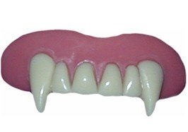 Billy Bob Teeth Vampire Fake False Fangs for halloween Vampire Dracula Fancy Dress Costumes & Outfits Accessory by Unique Industries