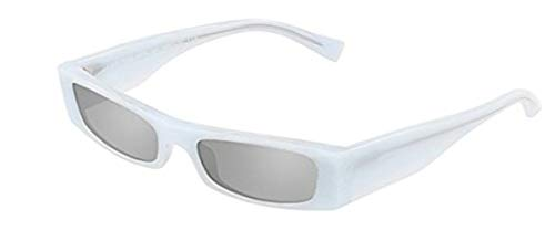 Occhiali da sole alain mikli edwidge 0a05039 x alexandre vauthier white pointille/grey donna