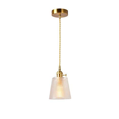 Mr. Fragile Industrielle Vintage Pendelleuchte,Edison Deckenleuchte,Glaslampenschirm-Kronleuchter,Goldketten-Pendelleuchte,Geeignet für Bars/Cafés/Restaurants